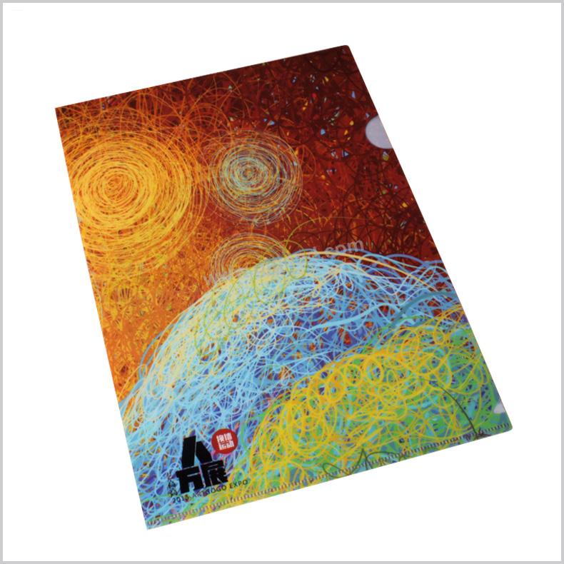 彩印L型文件夹