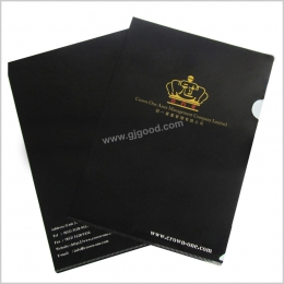 精美黑色烫金文件夹
